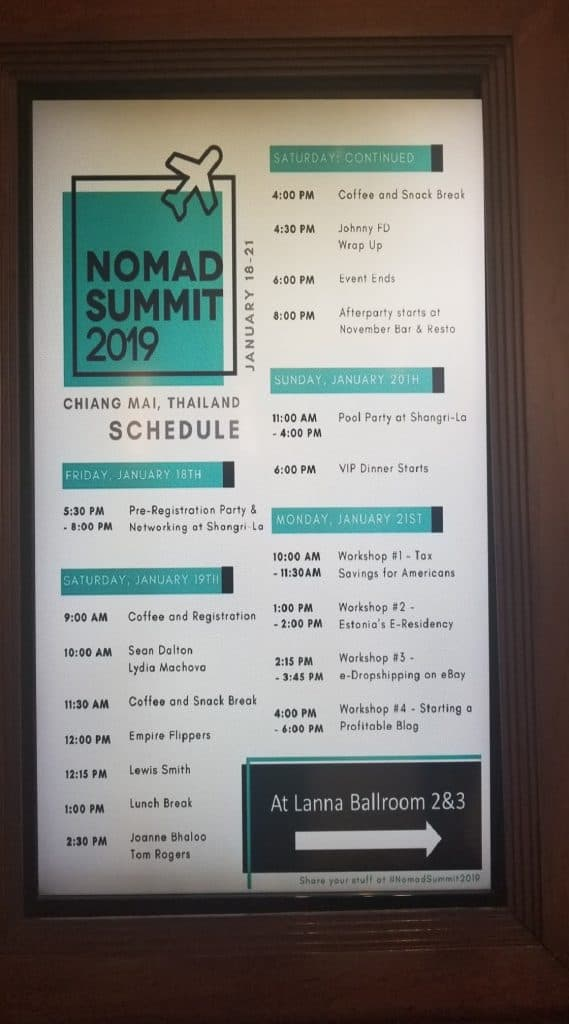 nomad-summit-schedule-agenda-timeline-chiang-mai-2019