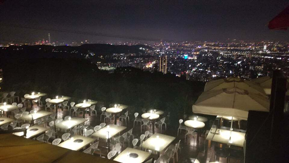 night view of taipei at yangmingshan