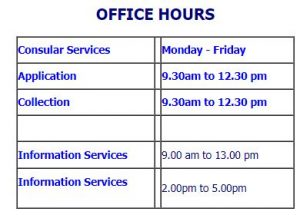 Thai Consulate opening hours