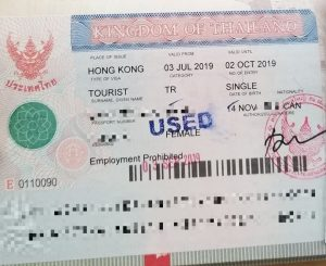 Thai Tourist Visa from Hong Kong