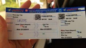 Actual Lomprayah Ferry Ticket to go to Koh Tao