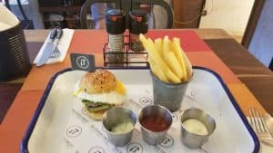 Baia Burger - 80g patty for 180 baht + 25 baht for egg - not worth it