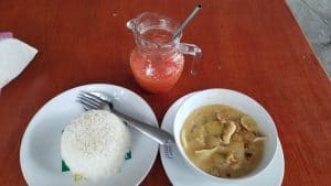 Mama Tam - massaman Curry with Papaya fruit shake - 100 baht