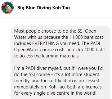 Need to pay extra to access PADI Course work