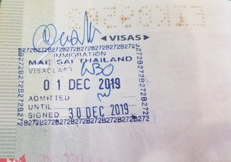 Re-Enter Thailand on 30 Day Visa Exempted Stamp